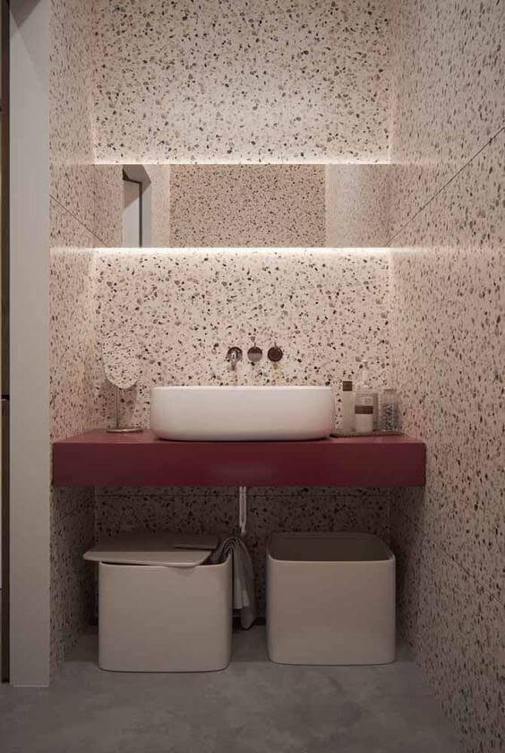 marmorite - lavabo com silestone vinho