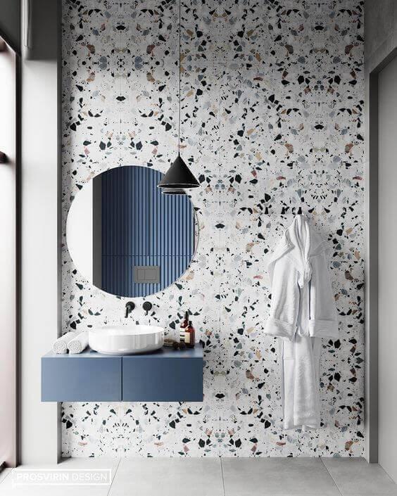 marmorite - parede de banheiro com marmorite