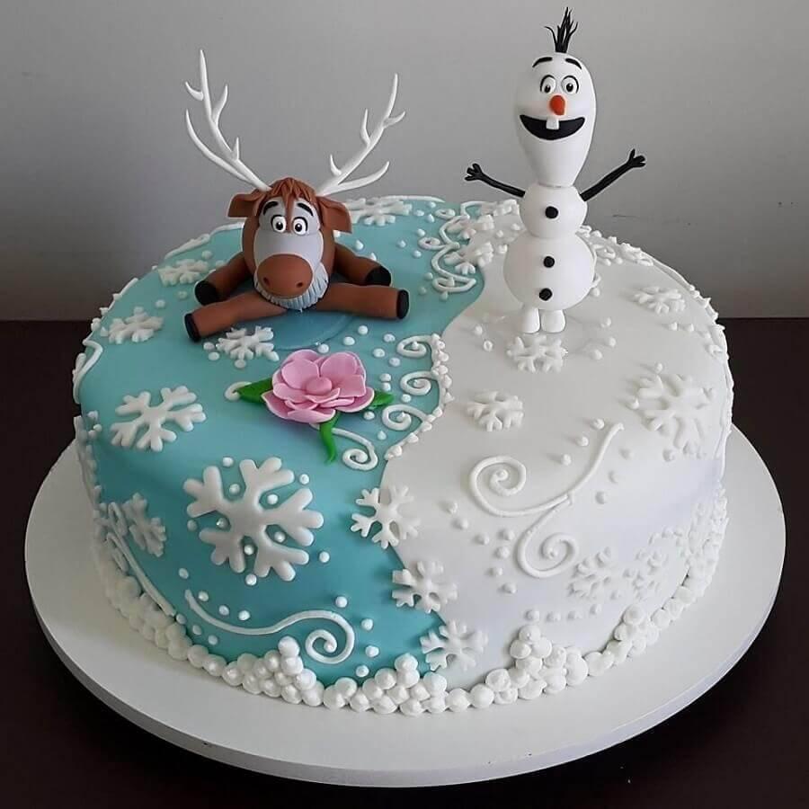 modelo de bolo da frozen redondo Foto Pinterest