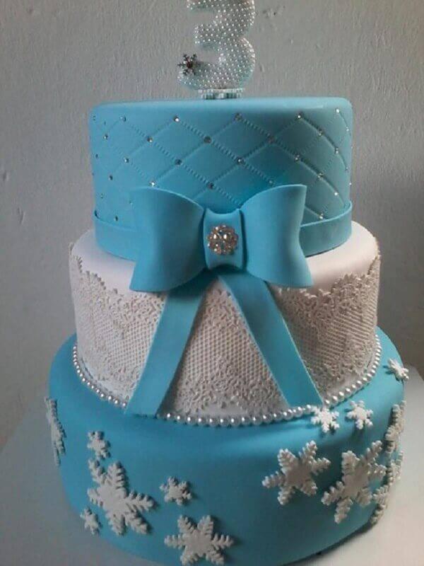 modelo de bolo fake da frozen Foto Elo7