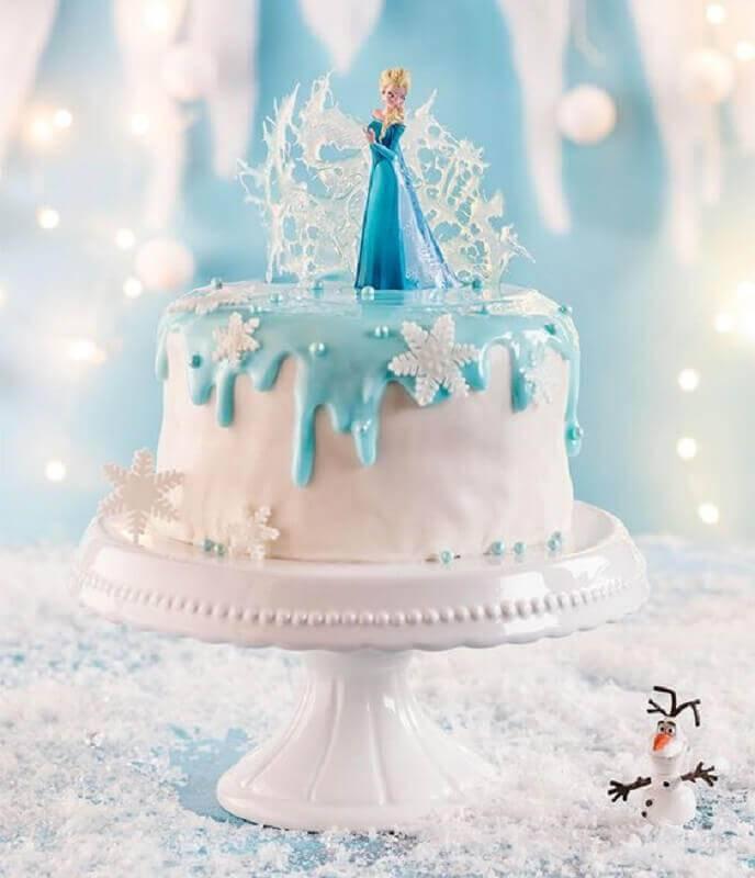 modelo de topo de bolo da frozen Foto Pinterest