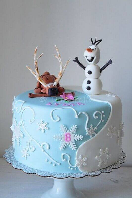 fun frozen cake model with american paste Photo Mother Baggage