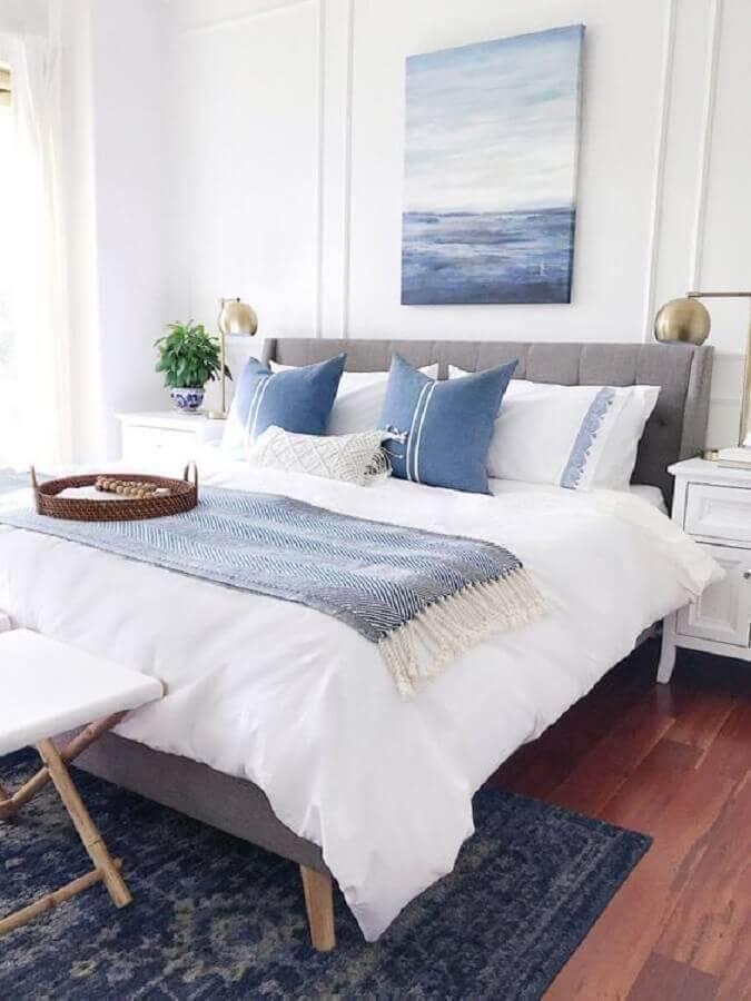 modelos de quarto de casal com decoração clean Foto Decor e Design