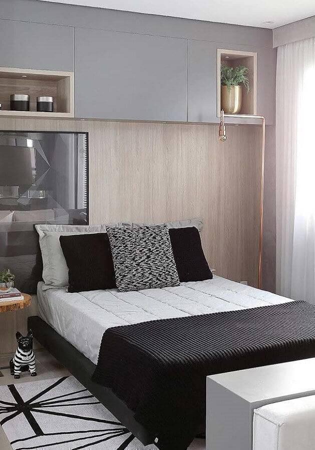modelos de quarto de casal com móveis planejados Foto Home Fashion Trend