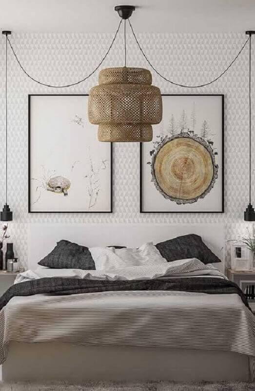 modelos de quarto decorado com lustre grande diferente Foto Ideias Decor