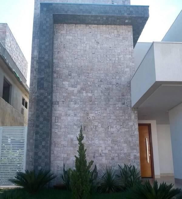 A miracema foi utilizada em toda a fachada da casa