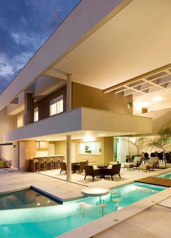pedra para piscina - área externa de casa grande