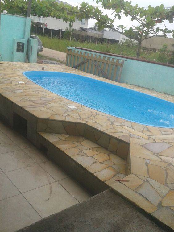 pedra para piscina - piscina com pedra são tomé
