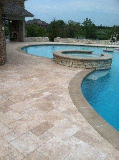 pedra para piscina - piscina moderna