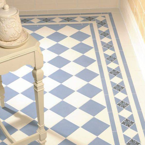 pisos antigos - piso clássico azulado