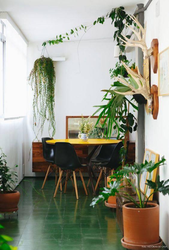 pisos antigos - piso verde musgo