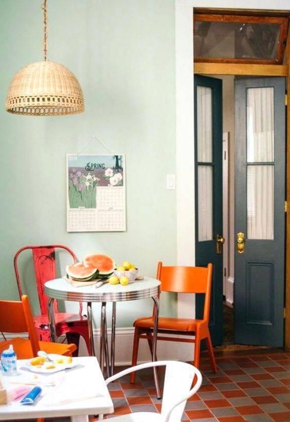 pisos antigos - piso vermelho e azul