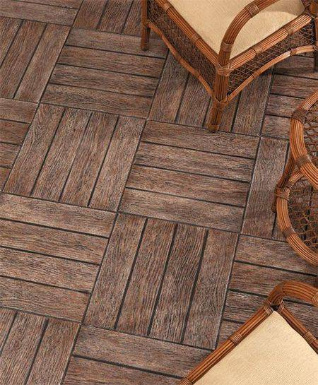 pisos antigos - revestimento que imita madeira