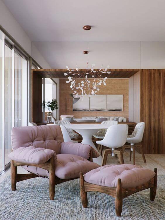 Poltrona mole cor de rosa