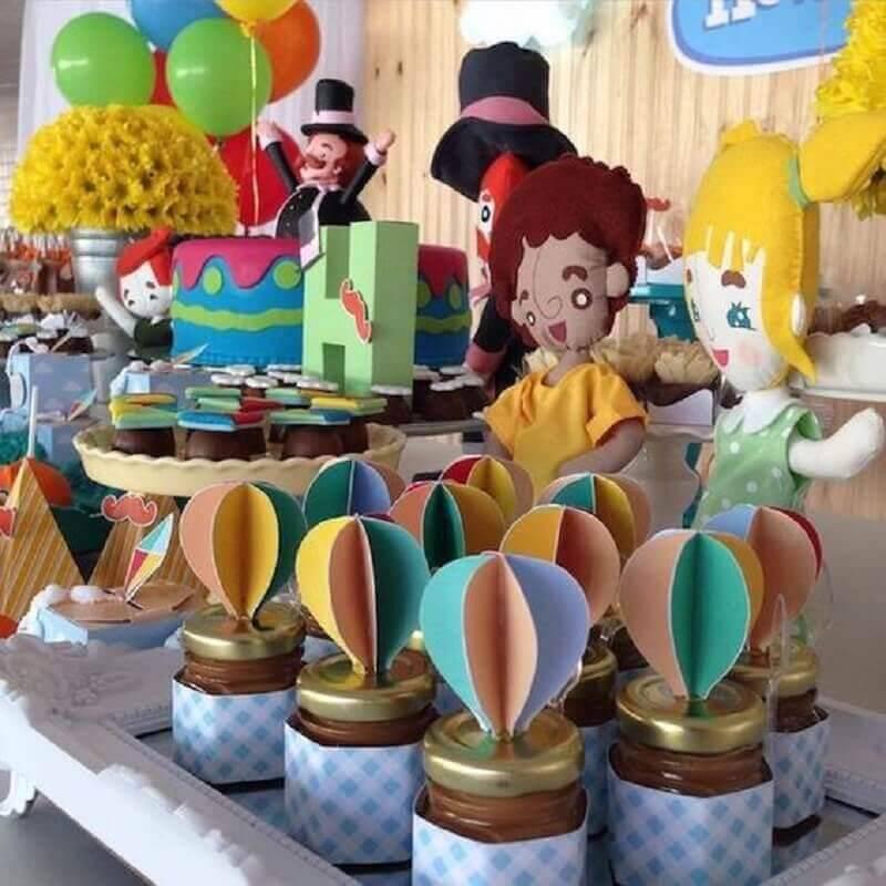 potinhos decorados para festa tema mundo bita Foto Casa & Festa Decoração