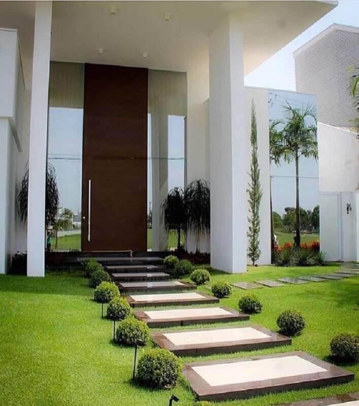 projeto de jardim residencial grande Foto Pinterest