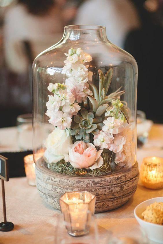 redoma - redoma com flores