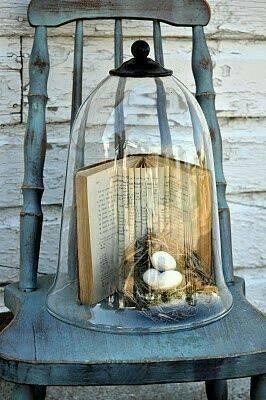 redoma - redoma com livro aberto