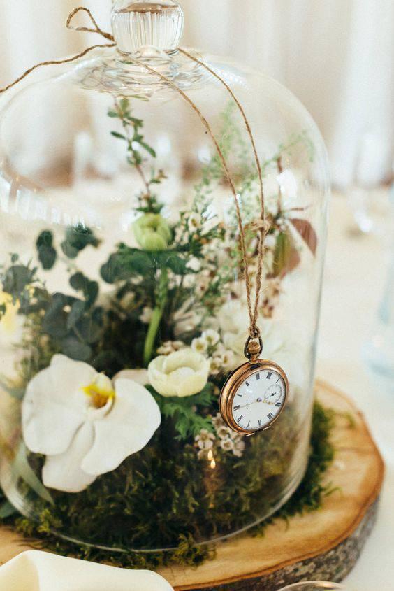 redoma - redoma com relógio