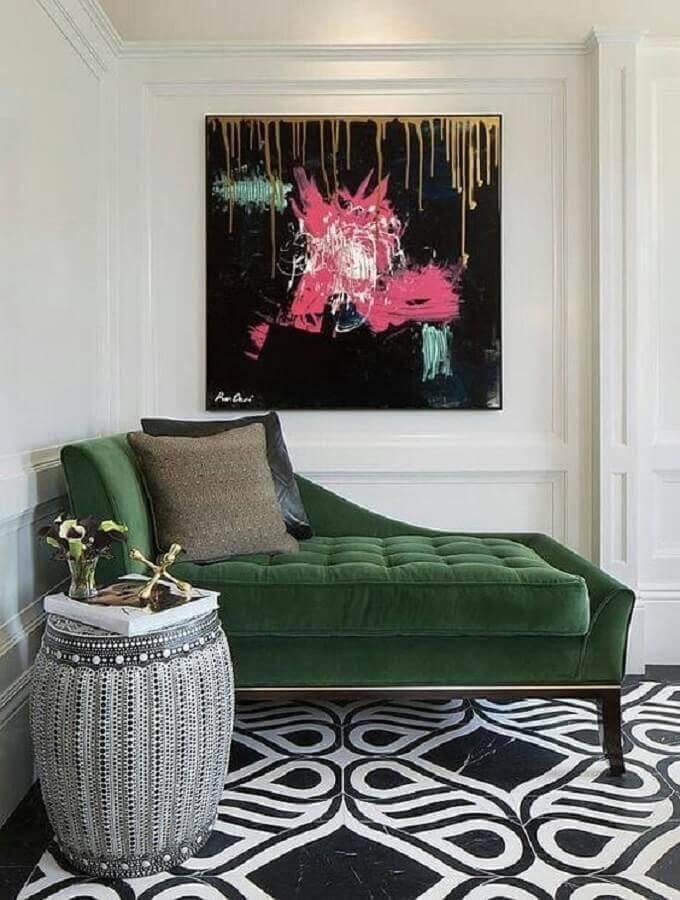 sofá verde estilo divã Foto Etsy