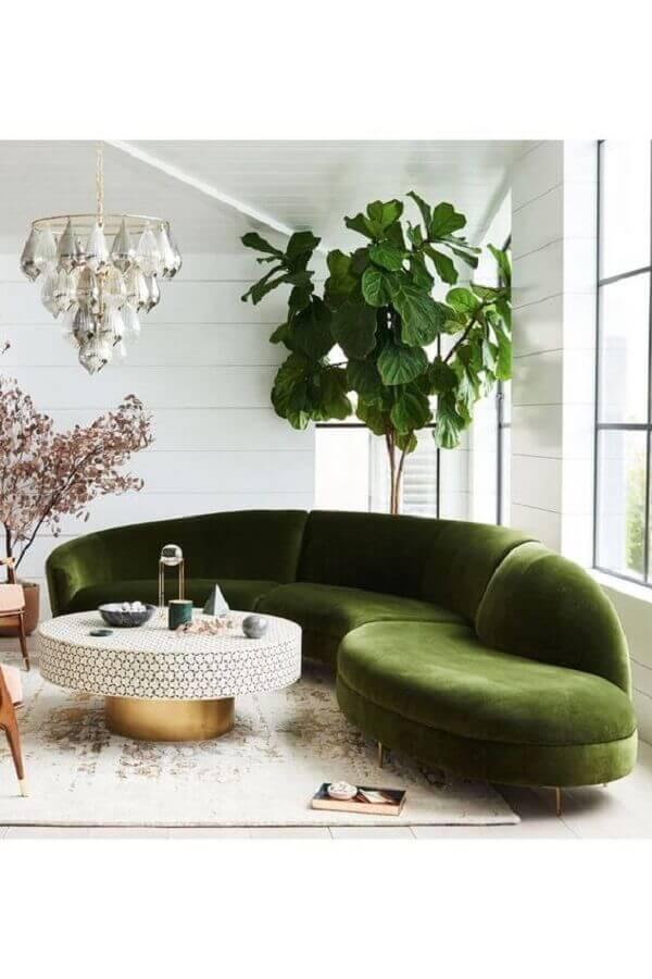sofá verde moderno Foto Anthropologie