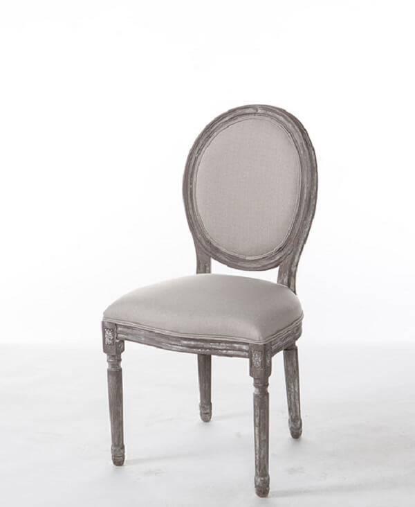 Modelo de cadeira medalhão branca