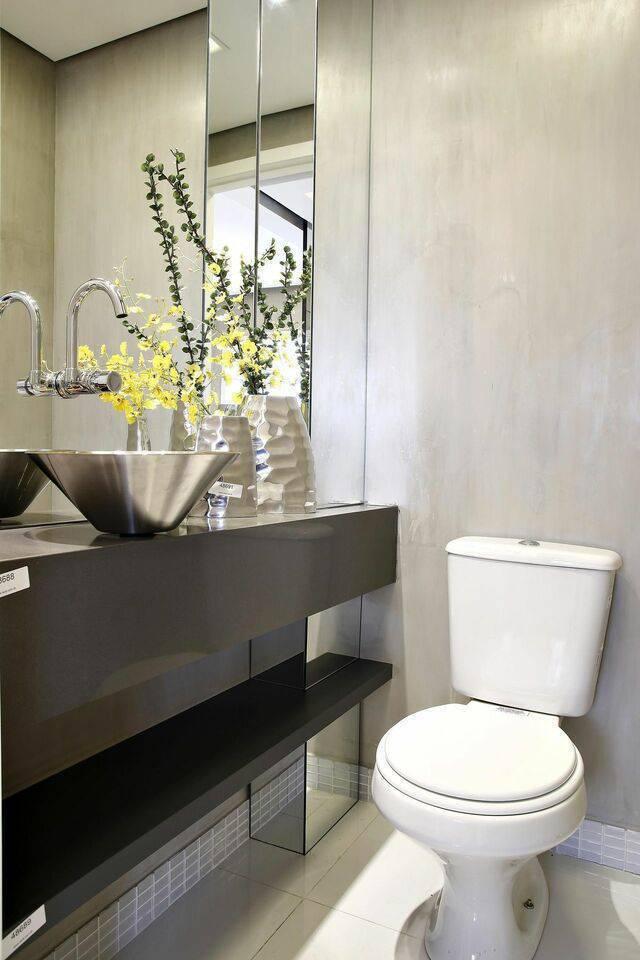 torneira para pia de banheiro - banheiro com cuba metálica