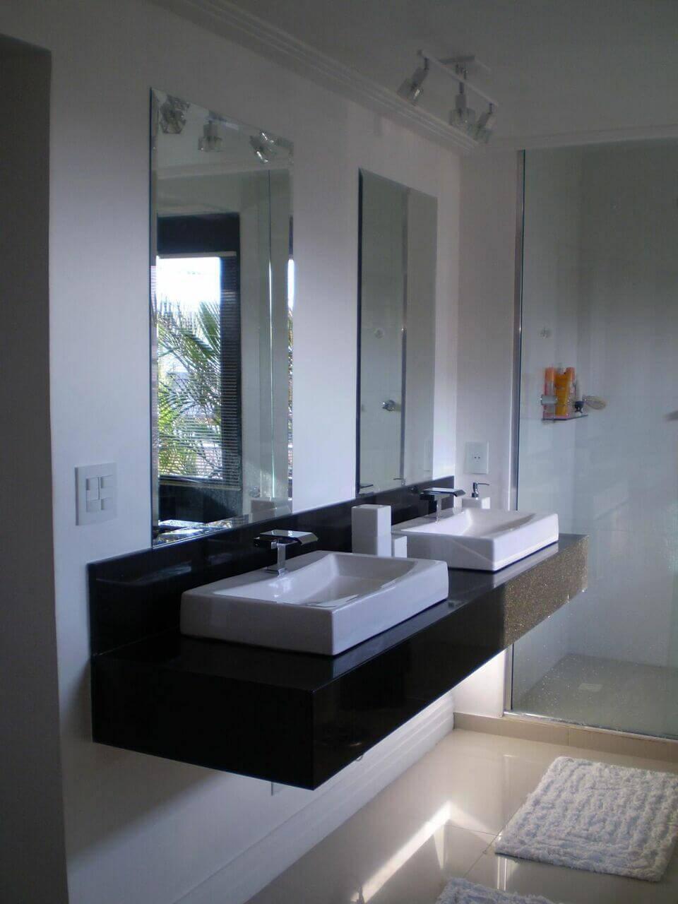 torneira para pia de banheiro - lavabo com bancada de mármore