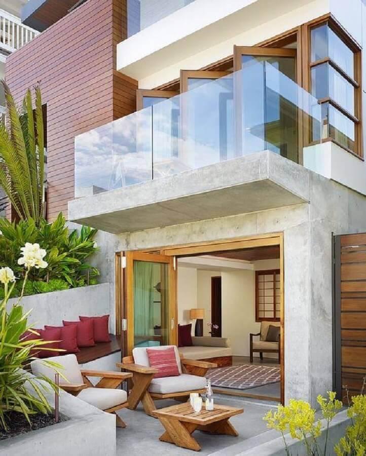 varanda de vidro para casas lindas e modernas Foto Architizer