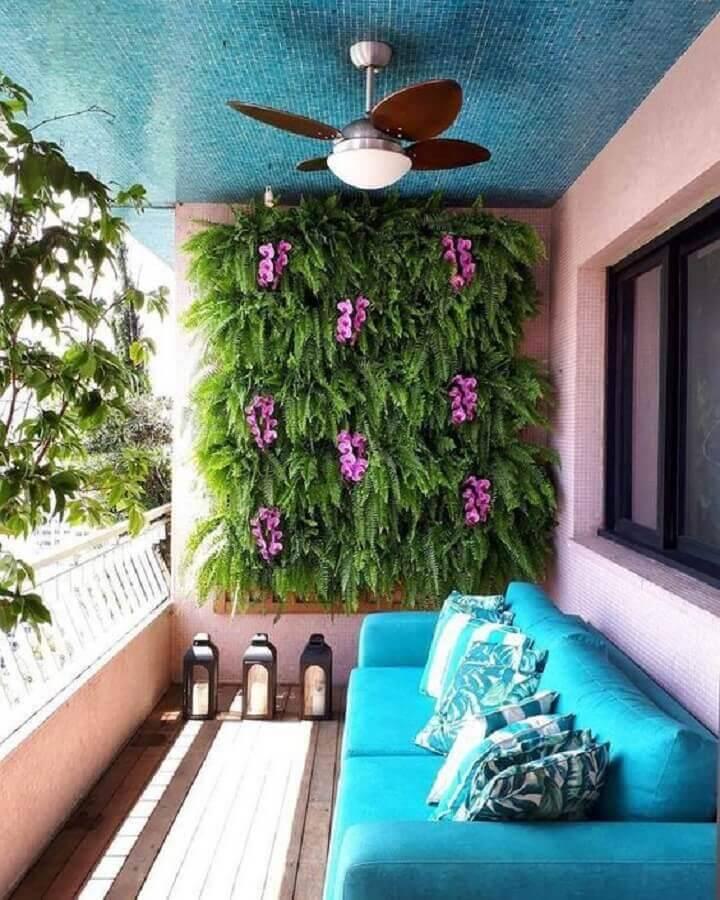 varanda pequena com jardim residencial vertical Foto Apartment Balcony Ideas