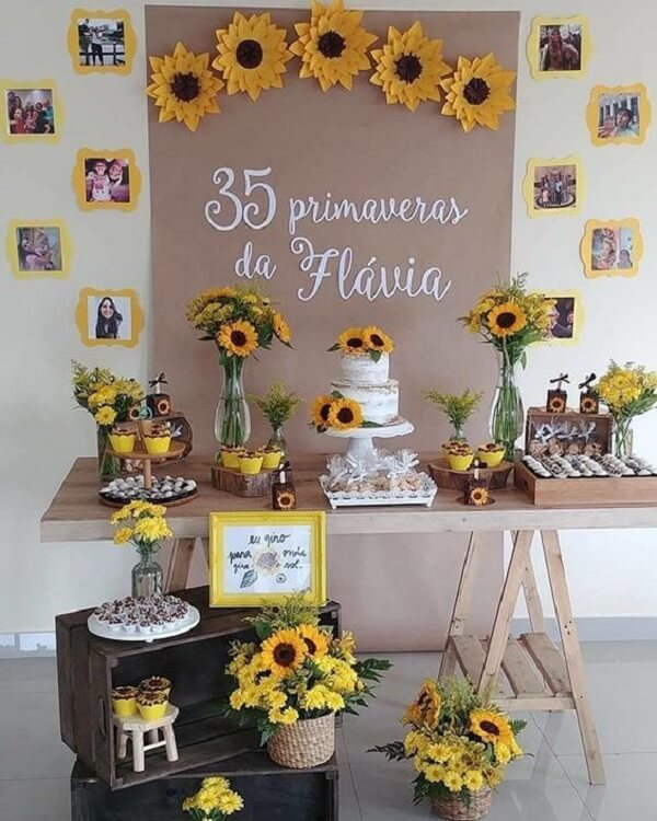 Sunflower theme birthday party for inspiration