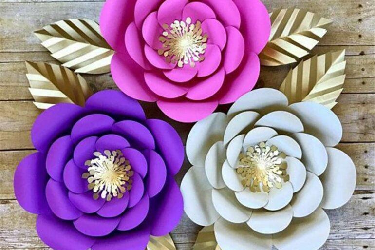 Decore a casa e a festa com rosas de papel. Fonte: Pinterest