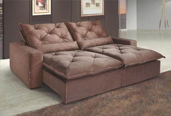 Modelo de sofá retrátil e reclinável