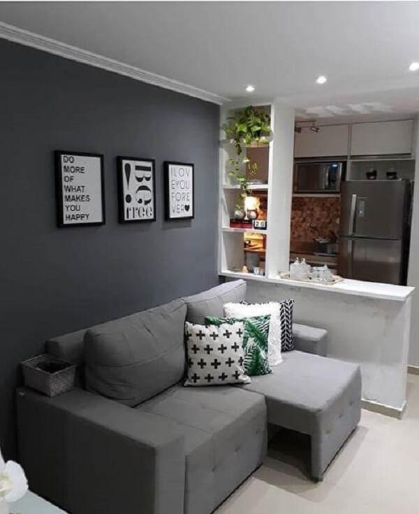 Modelo de sofá retrátil para sala pequena