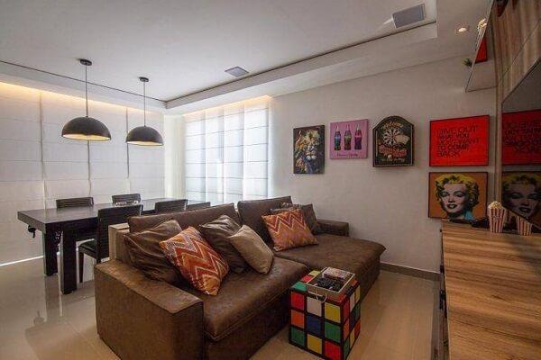 O sofá retrátil é a opção ideal para ambientes pequenos