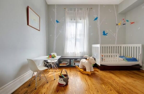 Utilize o piso laminado no quarto das crianças