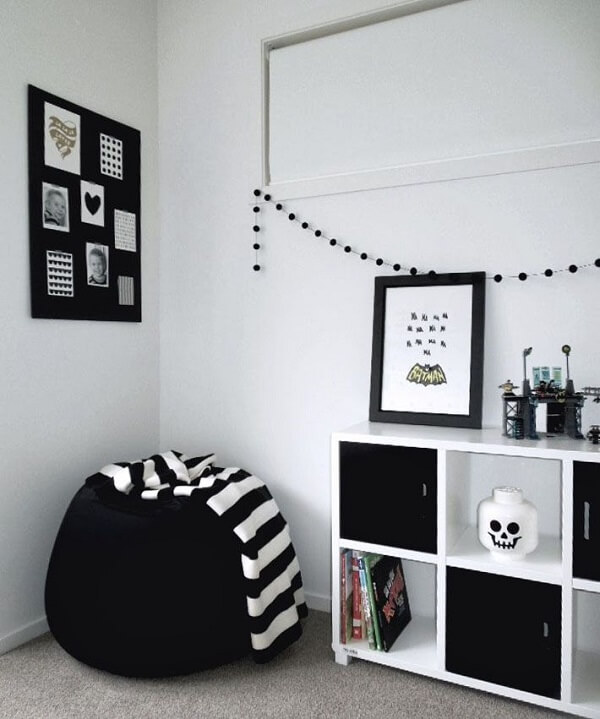 Quartos tumblr preto e branco cores