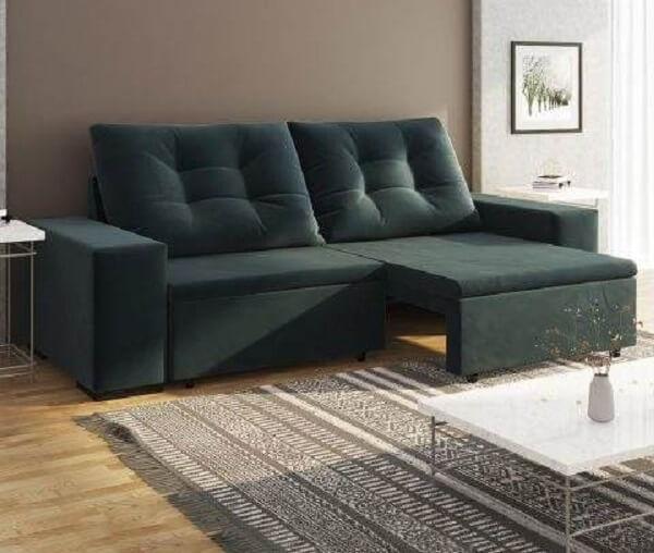 Sofá retrátil e reclinável para sala de estar pequena