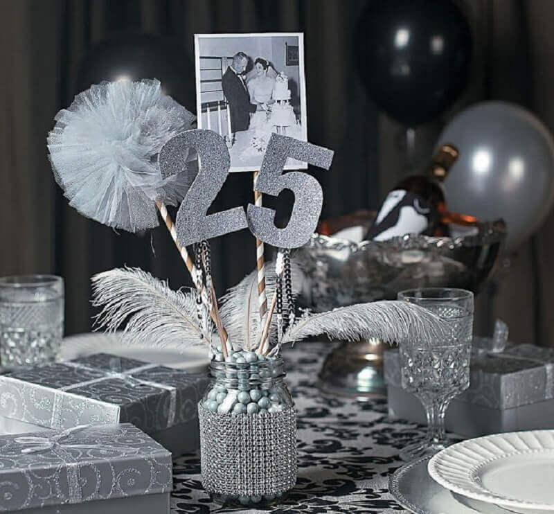 aniversário de casamento bodas de prata Foto Pinosy