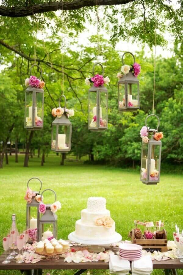 aniversário de casamento simples ao ar livre Foto Papo Glamour
