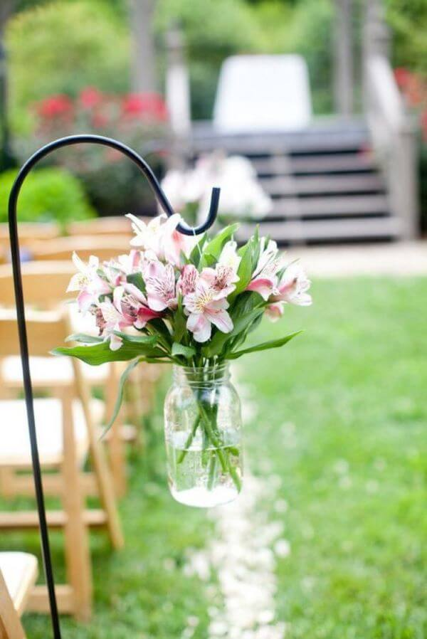 Astromelia rosa e branco