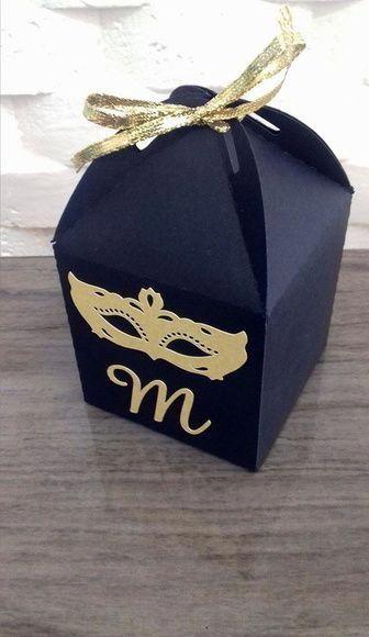 Caixinha personalizada para baile de máscaras