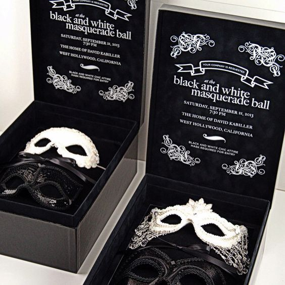 Convite baile de máscara