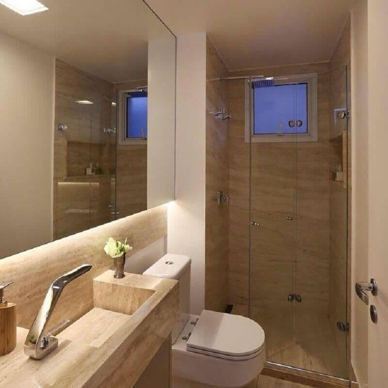 banheiro de apartamento pequeno decorado Foto Sandra Steuer