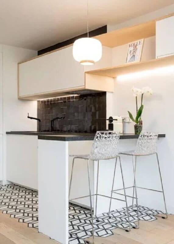 banqueta alta moderna com assento de acrílico transparente Foto Pinterest
