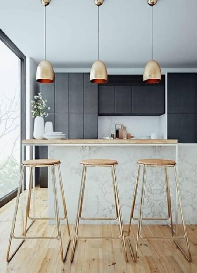 banqueta alta moderna com design minimalista Foto Look4deco