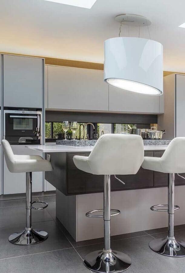 banquetas modernas com assento estofado Foto Pinterest