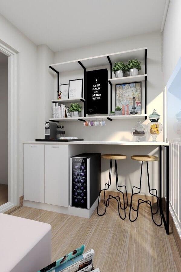 banquetas modernas para área gourmet pequena Foto Construção e Design