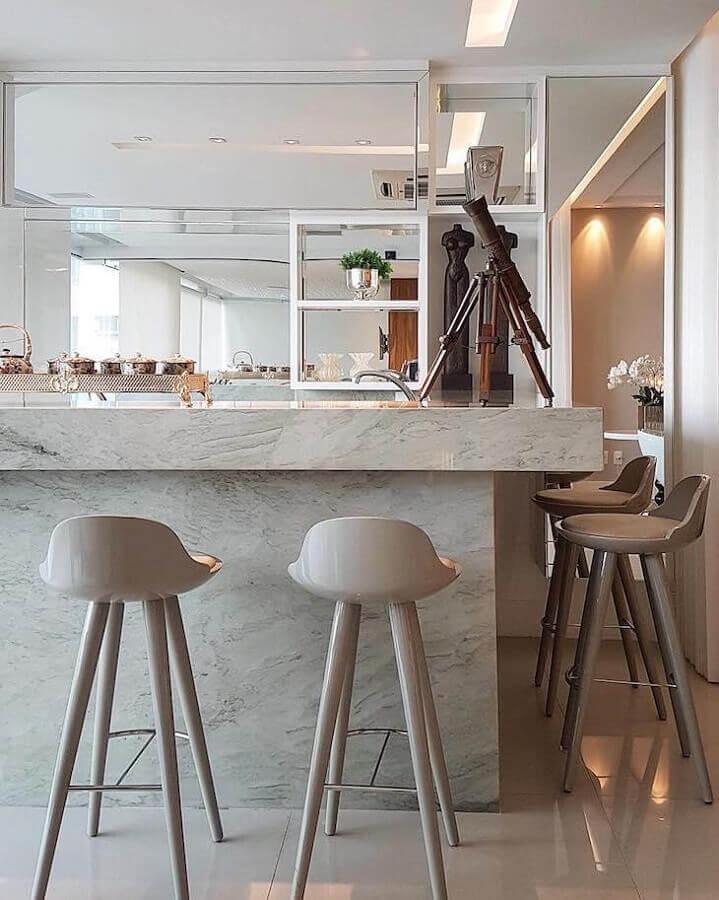 banquetas modernas para decoração sofisticada Foto Max Mello Arquitetura