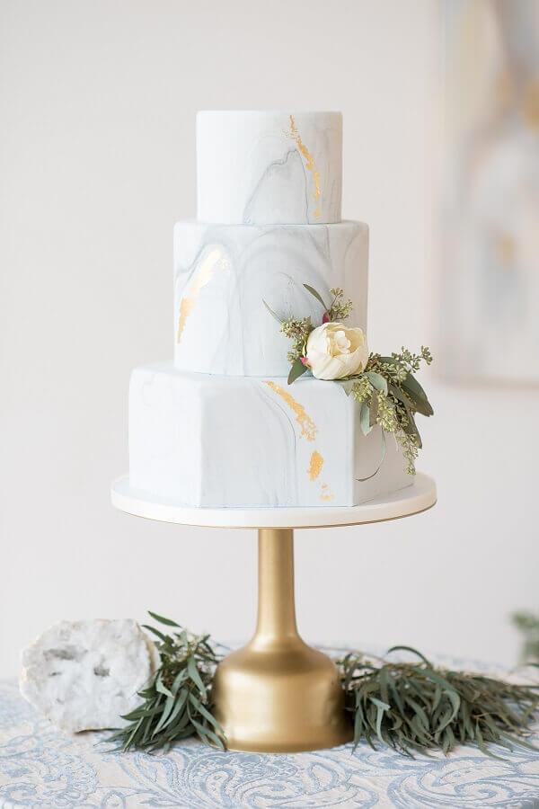 bolo de aniversário de casamento moderno Foto Glamour & Grace